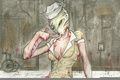 Picture art, nurse, silent hill, silent hill