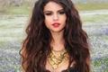 Picture flowers, clip, singer, field, Selena Gomez