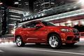 Picture red, jeep, speed, bmw x6, bmw, Beha, night, Boomer, икс6
