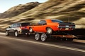 Picture road, background, Dodge, Dodge, Challenger, rear view, 1970, 340, and, Muscle car, Muscle car, Durango, ...