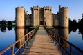 Picture the sky, bridge, lake, castle, tower