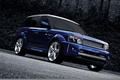 Picture blue, drives, range rover sport, kahn