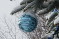 Picture toy, tree, new year, ball, snow, decoration, Christmas