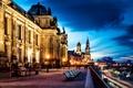 Picture road, the city, people, street, the evening, excerpt, Germany, Dresden, benches, Germany, Dresden, shop, Altstadt, ...