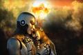 Picture background, war, robots