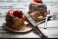 Picture strawberry, cake, cream, cakes, sweet