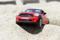 Picture toy, mini, mini Cooper, model, car, beach