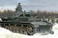 Picture snow, art, Pz. IV, winter, Germany, German medium tank, bulldozer, figure, A IV, Ausf.B, Panzerkampfwagen ...