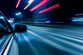 Picture road, macro, light, night, the city, lights, reflection, strip, movement, markup, speed, excerpt, blur, turn, ...