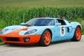 Picture Ford, Orange, Blue, GT