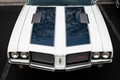 Picture retro, the hood, classic, Oldsmobile 442, muscle car