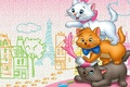 Picture cat, the city, cartoon, art, aristocrats