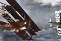 Picture Fokker Dr. I, Manfred von Richthofen, epilogue of a legend, The red Baron, figure, art, ...
