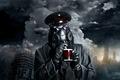 Picture Captain, mug, mask, romance of the Apocalypse, romantically apocalyptic, the sky, devastation
