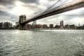 Picture Manhattan, bridge, New York, bridge, New York, city, the city, water, Manhattan, Brooklyn