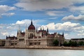 Picture the sky, clouds, the city, river, the building, Parliament, Hungary, Hungary, Budapest, The Danube, Budapest, ...