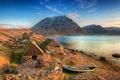 Picture sea, boat, mountains, Iceland, coast, Iceland, Isafjordur