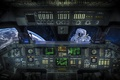 Picture Astronaut, astronaut, cabin, Shuttle, the situation, space