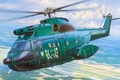 Picture Puma, art, French medium transport helicopter, Sud-Aviation, Aerospace, figure, SA.330, Federal police