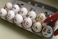 Picture eggs, fear, emotions, box, hand, tears