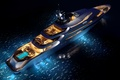 Picture superyacht, yacht, oceAnco, concept, sea, Y708, upview, night