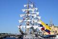 "Picture ""Gloria"", training, ship, sailing"