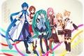 Picture girls, anime, headphones, art, microphone, guys, vocaloid, hatsune miku, megurine luka, kagamine rin, kagamine len, ...