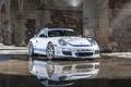 Picture white, reflection, 997, Porsche, white, sports car, Porsche, Carrera S, EurocupGT, 3.8