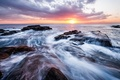 Picture Kanagawa, Prefecture, surf, shore, Japan, sea, the evening, clouds, the sun, the sky, horizon, stones, ...