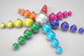 Picture balls, color, rays, holiday, new year, toys, star