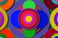 Picture circles, figure, different, color