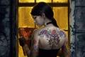 Picture brunette, decosta, window, decoration, tattoo, book, earrings