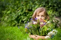 Picture girl, summer, mood, flowers