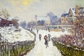 Picture snow, picture, the urban landscape, Claude Monet, Boulevard Saint-Denis. Argenteuil. Winter