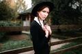 Picture hat, Amish, girl, braids, George Chernyadev