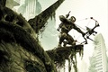 Picture weapons, Crytek, leaves, home, New York, nanosuit, devastation, Crysis 3, soldiers, The Statue Of Liberty, ...