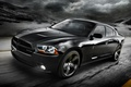 Picture road, the sky, clouds, black, 2012, Dodge, dodge, charger, the front, Blacktop, charger, version, special, ...