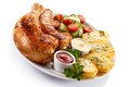 Picture Vegetables, Food, Chicken, Potatoes, Ketchup
