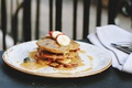 Picture food, strawberry, banana, cream, cakes, sweet, pancakes