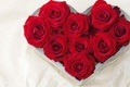 Picture flowers, heart, recognition, gift, heart, bouquet, red, nature, love, roses, flower