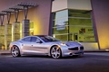 Picture car, cars, building., Karma Ever, machine, auto, silver, Fisker