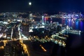 Picture the sky, water, night, city, the city, lights, lights, building, Hong Kong, skyscrapers, Bay, megapolis, ...