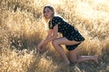 Picture summer, dress, legs, freckles, girl