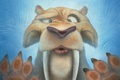 Picture ice, face, cartoon, tiger, Sabretooth, Ice Age: Collision Course, fangs, Ice age: a Collision is ...