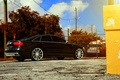 Picture rearside, black, Audi, vossen wheels
