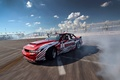 Picture Drift, Red, Competition, Silvia, Nissan, Clouds, Smoke, Tuning, S13
