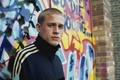 Picture graffiti, wall, actor, Charles Matthew Hunnam, Charles Matthew Hunnam, sweatshirt, Peter Pete Dunham, Hooligans, Pete ...