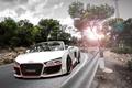 Picture Regula Tuning, Oxigin Oxrock, Grandiose, R20, drives, Blik, white, front, kit, turn, Audi, bodykit