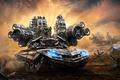 Picture weapons, gun, art, soldiers, tank, Aleksandr Kuskov