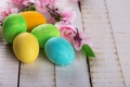 Picture flowers, Easter eggs, eggs, Easter